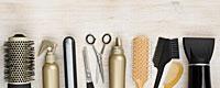 Haarbürsten, Scheren und sonstiger Friseurbedarf